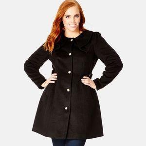 City Chic Princess Coat Black (plus size 20)